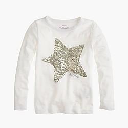 Girls' sequin star T-shirt