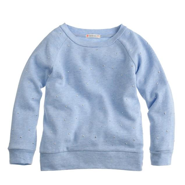 Girls' sparkle sweatshirt