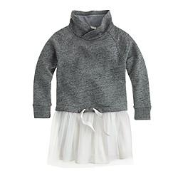 Girls' sweatshirt tulle dress