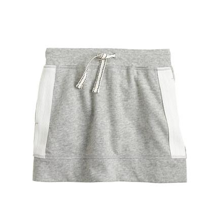 Girls' side-stripe knit skirt