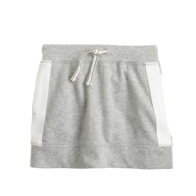 Girls' side-stripe knit skirt