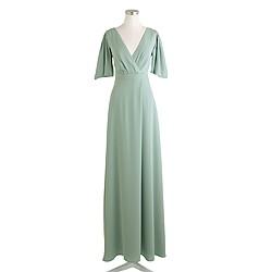 Felicity long dress in drapey matte crepe
