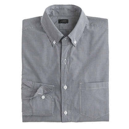 Slim Secret Wash shirt in gingham