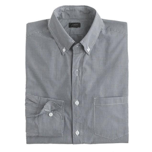 Slim Secret Wash shirt in gingham