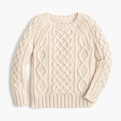 Kids' cable sweater