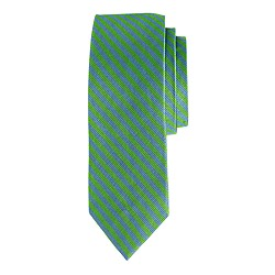Boys' silk tie in sail stripe