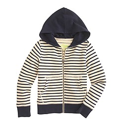Boys' hangout zip hoodie in colorblock stripe