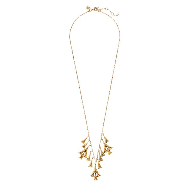 Metallic buds necklace