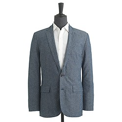 Ludlow sportcoat in printed floral chambray