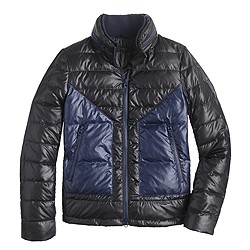 Convertible hooded puffer jacket