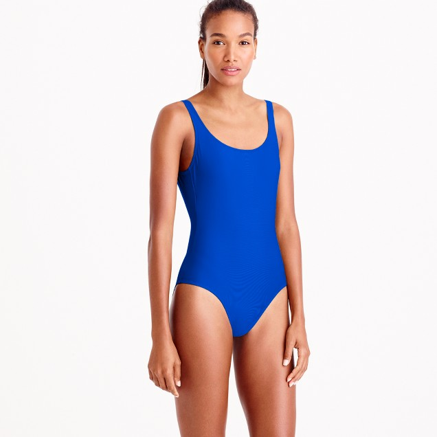 Scoopback one-piece swimsuit