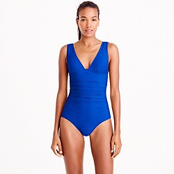DD-cup ruched femme one-piece swimsuit