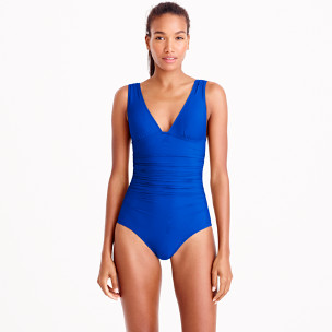 Ruched femme one-piece swimsuit