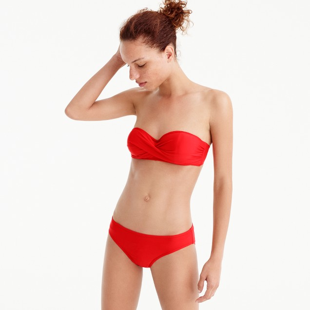 Twist-bandeau underwire bikini top