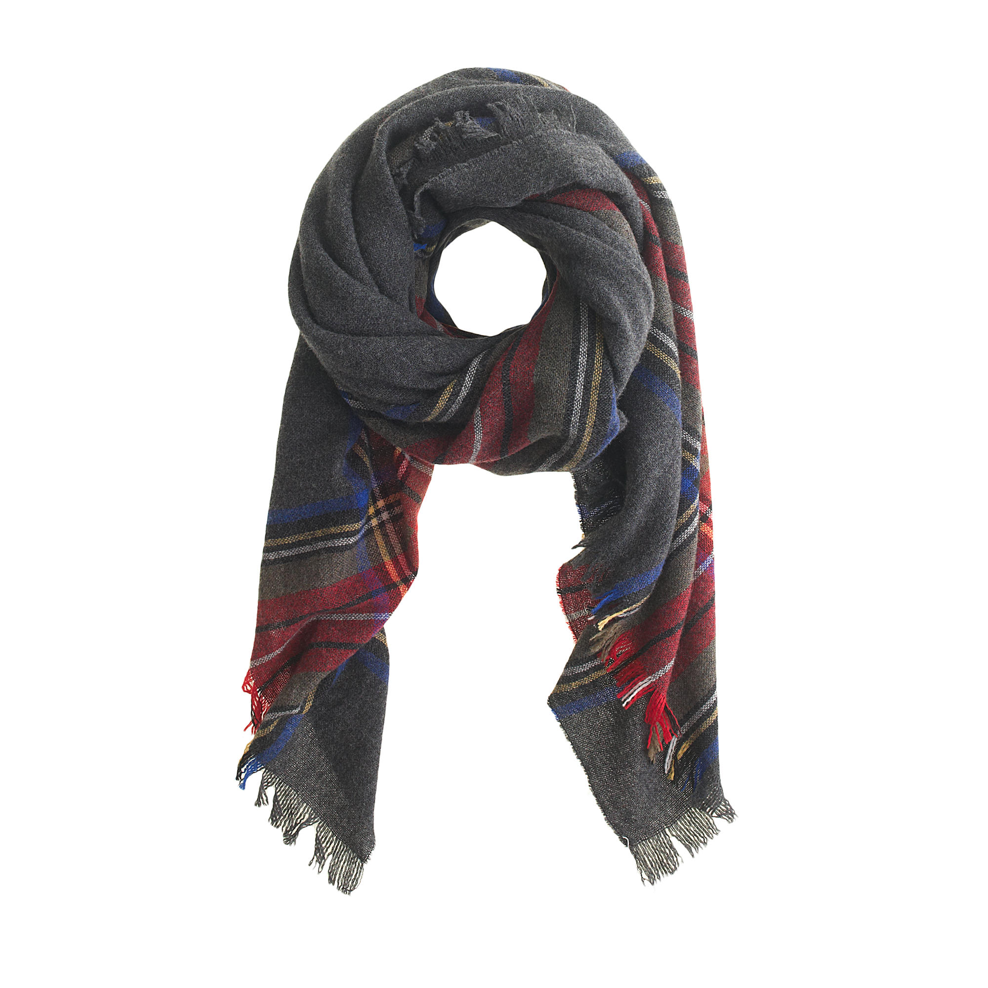 wool plaid scarf j crew. Black Bedroom Furniture Sets. Home Design Ideas