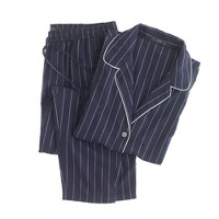 Pajama set in pinstripe flannel
