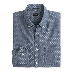 Slim chambray shirt in dot