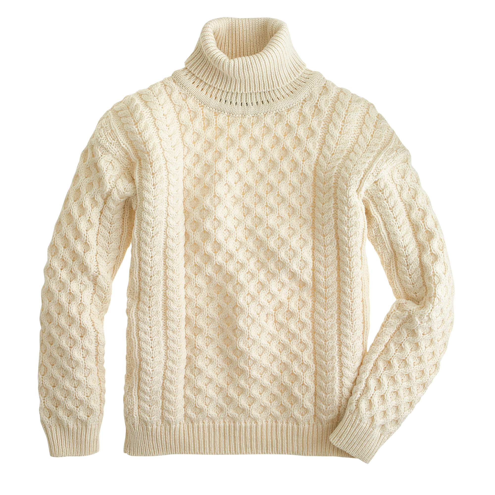 Aran crafts fisherman cable knit turtleneck sweater j for Aran crafts fisherman sweater