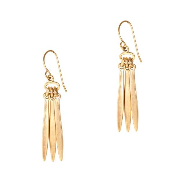 Three spikes earrings