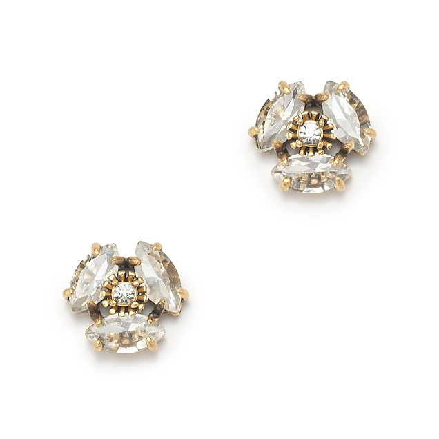 Resin flower stud earrings