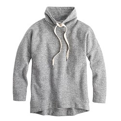 Brushed wool funnelneck sweatshirt