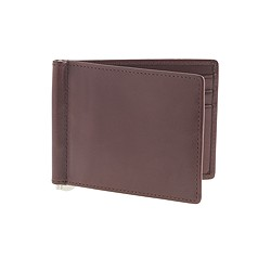Leather billfold with money clip