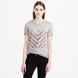 Sequin chevron T-shirt