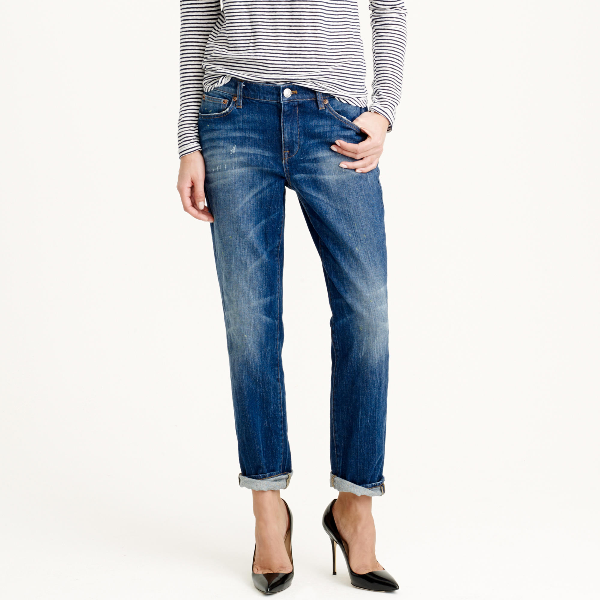 Slim broken-in boyfriend jean in michel wash : | J.Crew