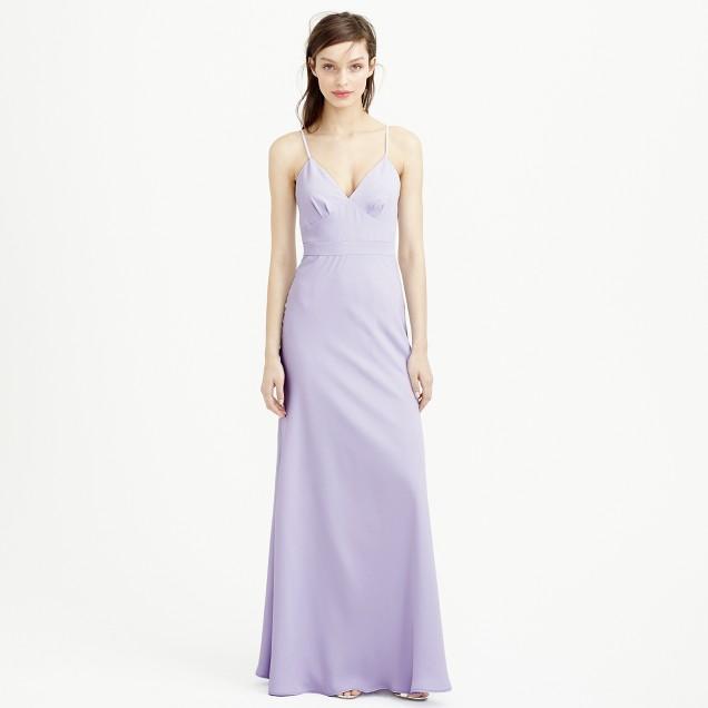 Aubrey long dress in drapey matte crepe