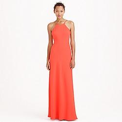 Carly long dress in drapey matte crepe