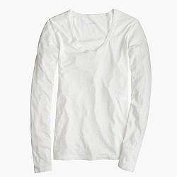Vintage cotton long-sleeve scoopneck T-shirt
