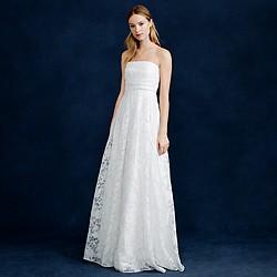 Georgiana burnout floral organza gown