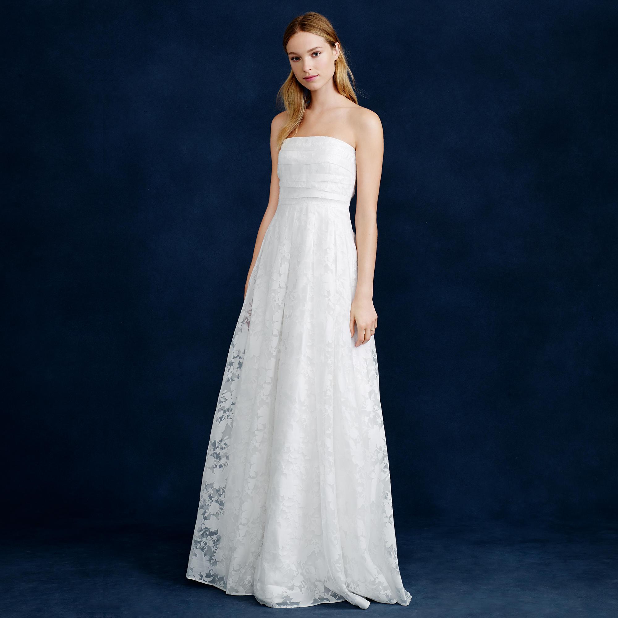 Georgiana burnout floral organza gown j crew for J crew daphne wedding dress