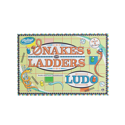 Kids' Ridley's® Snakes and Ladders and Ludo game