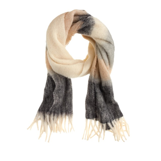 Brushed scarf in colorblock