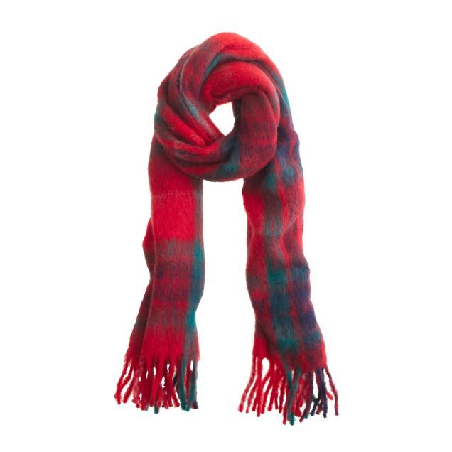 Marled plaid scarf