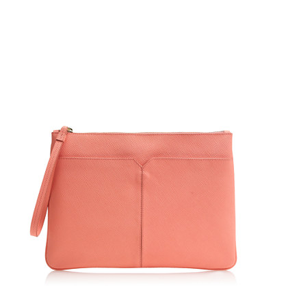 Downing embossed clutch