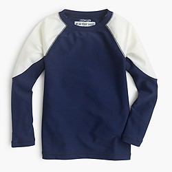 Boys' colorblock rash guard