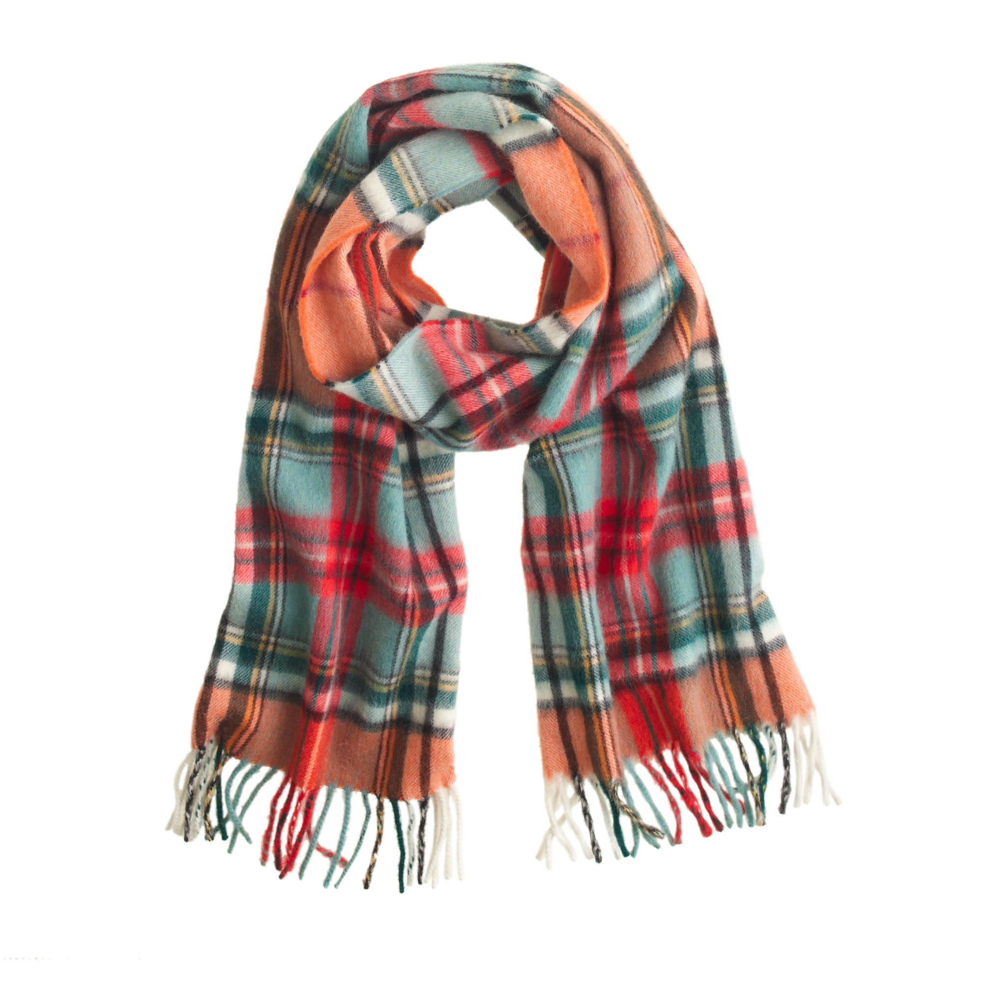 begg co lambswool plaid scarf j crew