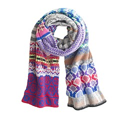 Eribé® collector's scarf in Fair Isle