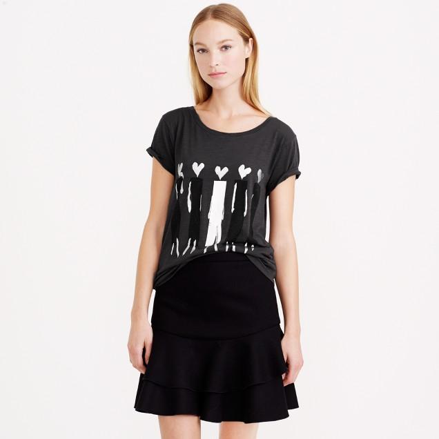 Donald Robertson™ for J.Crew heart-headed women T-shirt