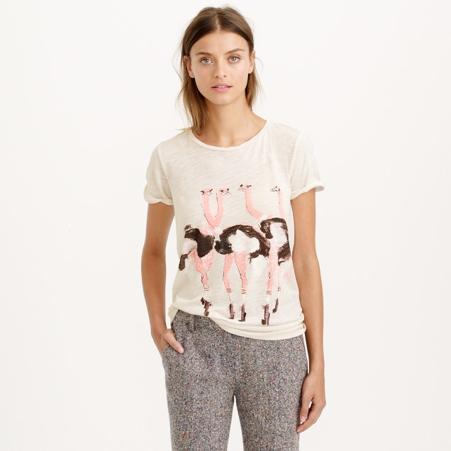 Donald Robertson™ for J.Crew ostrich T-shirt