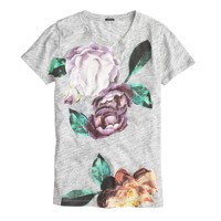 Exploded floral T-shirt