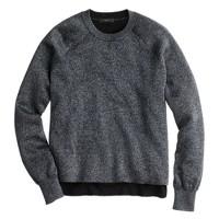 Sparkle side-slit sweater