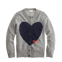 Girls' heart me cardigan