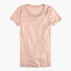 Vintage cotton T-shirt in metallic