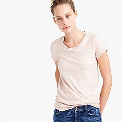 Vintage cotton T-shirt in metallic