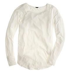 Long-sleeve linen-cotton T-shirt