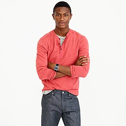 Tall lightweight henley sweatshirt