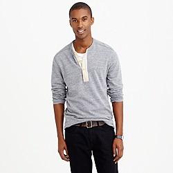 Lightweight henley sweatshirt
